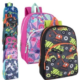 24 of 15 Inch Character Backpacks