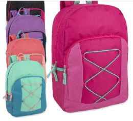 24 of 17 Inch Bungee Backpack With Side Pocket 5 Colors