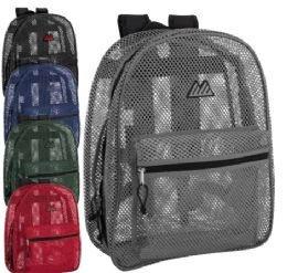 24 of Premium Quality Mesh 17 Inch Backpack