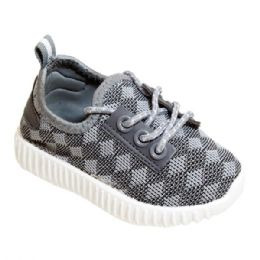 9 of Kids Knit Sneaker In Gray