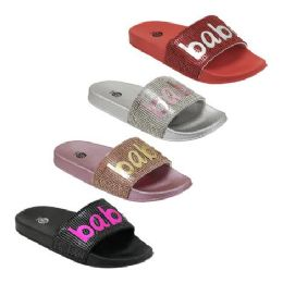 48 of Girls Babe Rhinestone Slide