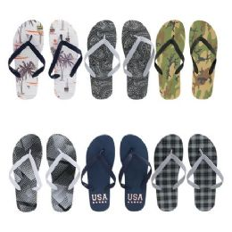 96 of Men's Printed Flip Flop