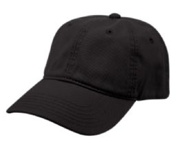 12 of PONYTAIL WASHED COTTON BASEBALL CAP IN BLACK