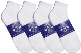 24 of Yacht & Smith Mens Cotton White Sport Ankle Socks, Sock Size 10-13