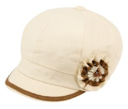 24 of CABBIE HATS WITH FLOWER