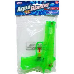 """48 of 7.25"""" Water Gun In Poly Bag W/ Header, 3 Assrt Clrs"""