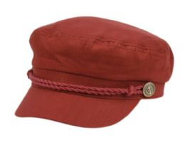12 of COTTON GREEK FISHERMAN HATS IN BURGUNDY