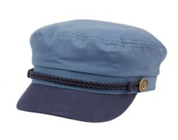 12 of COTTON GREEK FISHERMAN HATS IN INDIGO BLUE/NAVY