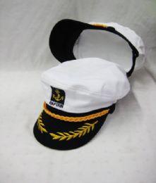 24 of Adult Yacht Boat Ship Sailor Captain Hat Cap Navy Marine Admiral
