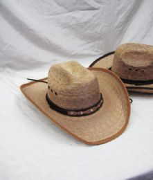 12 of Mens Straw Round Up Cowboy Hat