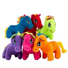 "24 of 9"" Plush Colorful Pony"