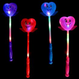 48 of Light-up Smiley Heart Wand