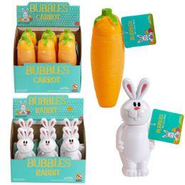 36 of Bubbles Carrot/rabbit Shape 6.1 Oz Bottle 6pc Pdq Upc Label