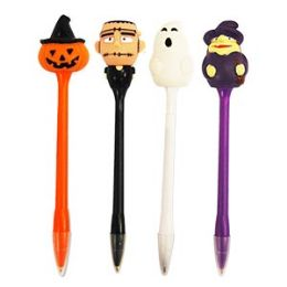 24 of Light Up Scary Pens Pens With Display