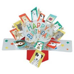 12 of Happy Birthday Pop-up Card- Dogs