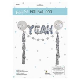 24 of Party Set Foil Balloon - Yeah