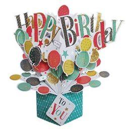 12 of Happy Birthday Pop-up Card - Balloons