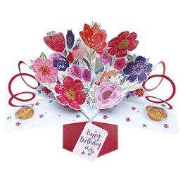 12 of Happy Birthday Pop-up Card - Flowers