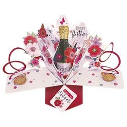 12 of Happy Birthday Pop-up Card - Prosecco