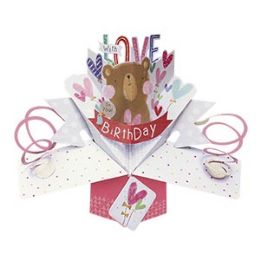 12 of Happy Birthday Pop-up Card - Bear