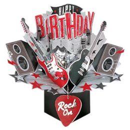 12 of Happy Birthday Pop-up Card- Rock