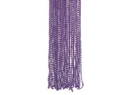 108 of 4 Pack Purple Metallic Bead Necklaces