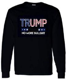 6 of Trump No More Bull Shit American Flag long sleeve PLUS Shirts