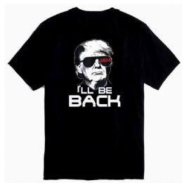 12 of Trump 2024 T-shirt I'll Be Back Black Shirts