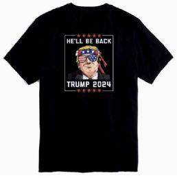 12 of Trump 2024 He'll Be Back Black Tshirt Plus Size