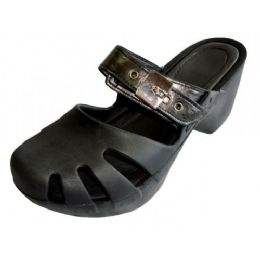 18 of Women's Wedge Clogs Black Color