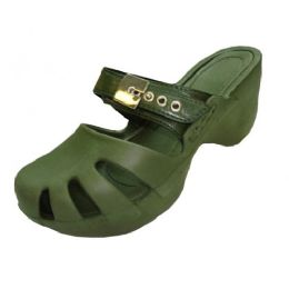 18 of Women's Wedge Clogs Olive Color