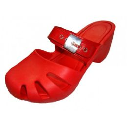18 of Women's Wedge Clogs Red Color