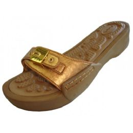 18 of Women's Slide Sandal With Buckle Gold Color