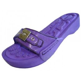 18 of Women's Slide Sandal With Buckle Purple Color