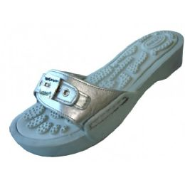 18 of Women's Slide Sandal With Buckle Silver Color