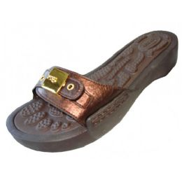 18 of Women's Slide Sandal With Buckle Bronze Color