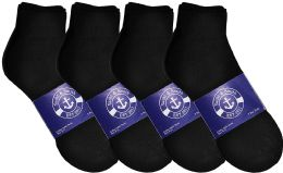 12 of Yacht & Smith Womens Lightweight Cotton Sport Black Ankle Socks, Sock Size 9-11