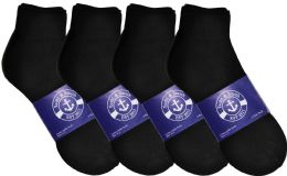 12 of Yacht & Smith Mens Lightweight Cotton Sport Black Ankle Socks, Sock Size 10-13