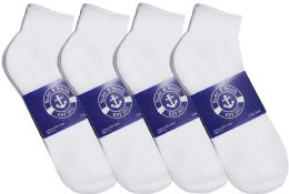 12 of Yacht & Smith Mens Lightweight Cotton Sport White Ankle Socks, Sock Size 10-13
