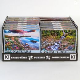 14 of Puzzle 500pc Size 11x18.25 Asst Natures Beauty B In 14pc Pdq