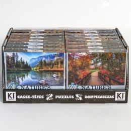 14 of Puzzle 500pc Size 11x18.25 Asst Natures Beauty A In 14pc Pdq