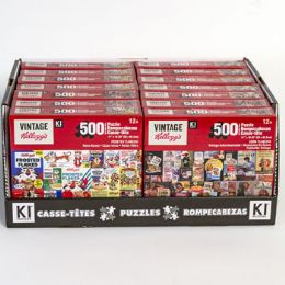 14 of Puzzle 500pc Size 11x18.25 Asst Kelloggs In 14pc Pdq