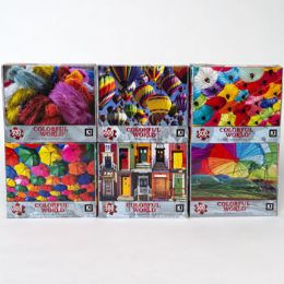 6 of Puzzle 300pc Size 10.75x18 6 Assorted Colorful World