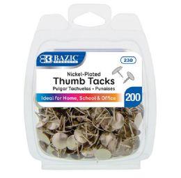 24 of Thumb Tack Silver 200pk