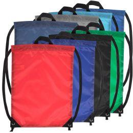 48 of 18 Inch Basic Drawstring Bag - 8 Color Assortment