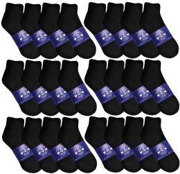 72 of Yacht & Smith Mens Lightweight Cotton Sport Black Quarter Ankle Socks, Sock Size 10-13