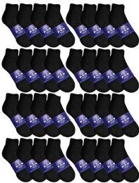 120 of Yacht & Smith Womens Lightweight Cotton Sport Black Quarter Ankle Socks, Sock Size 9-11