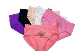 48 of Ladies' Seamless Briefs With Rhinestone