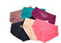 48 of Lady's Seamless Briefs With Rhinestones