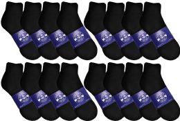 48 of Yacht & Smith Womens Lightweight Cotton Quarter Ankle Socks In Bulk, Black Size 9-11
